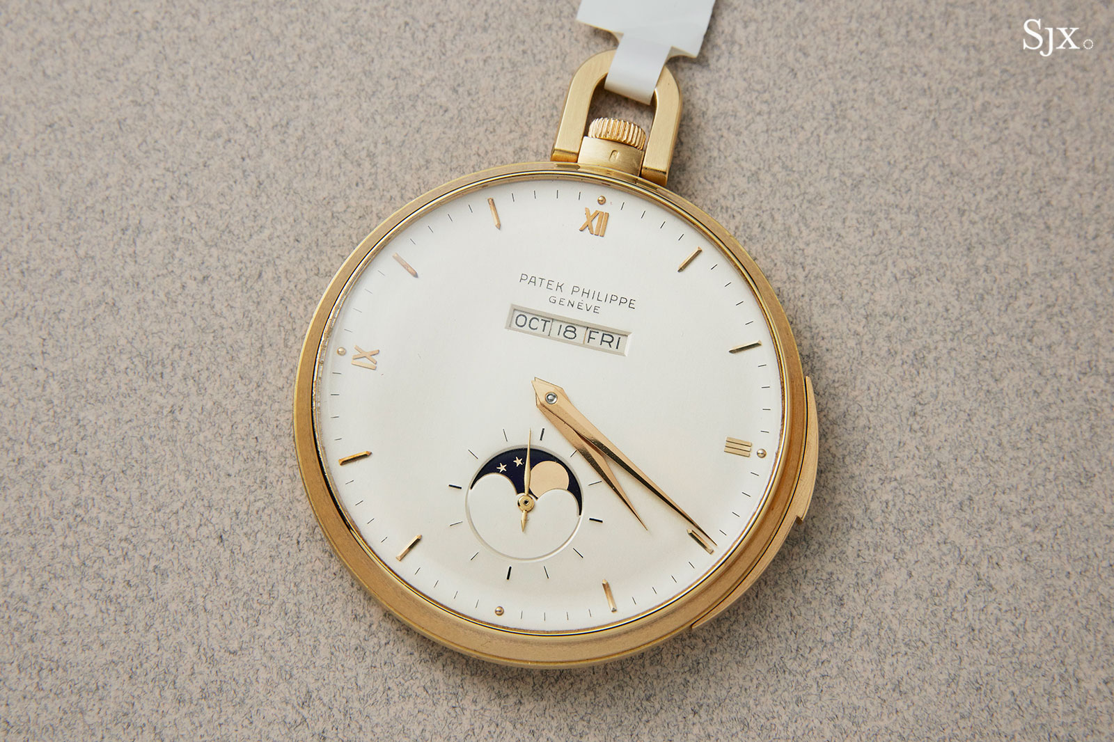 Patek 699 pocket watch straight-line calendar 2
