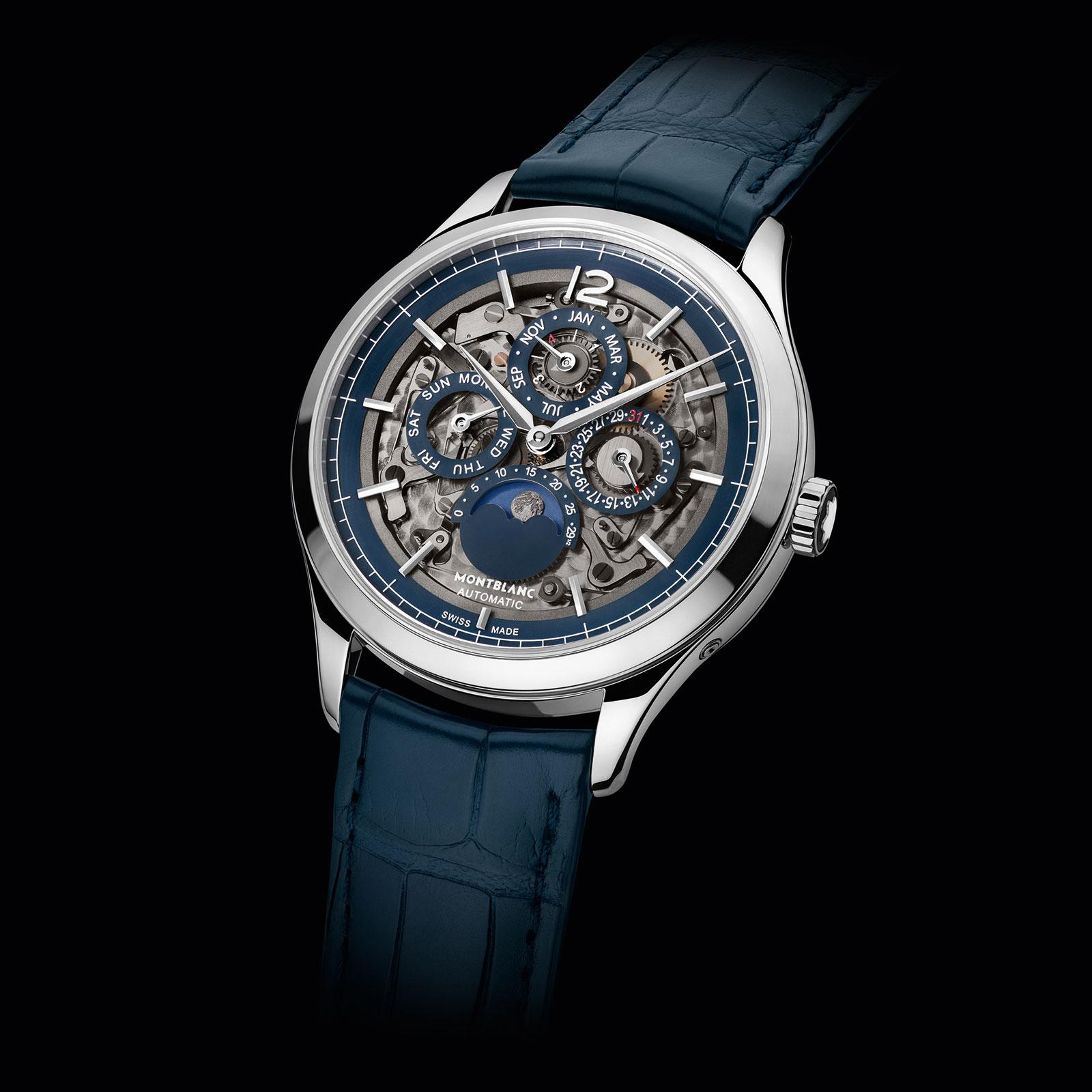 Montblanc-Heritage-Chronométrie-Perpetual-Calendar-Sapphire dial