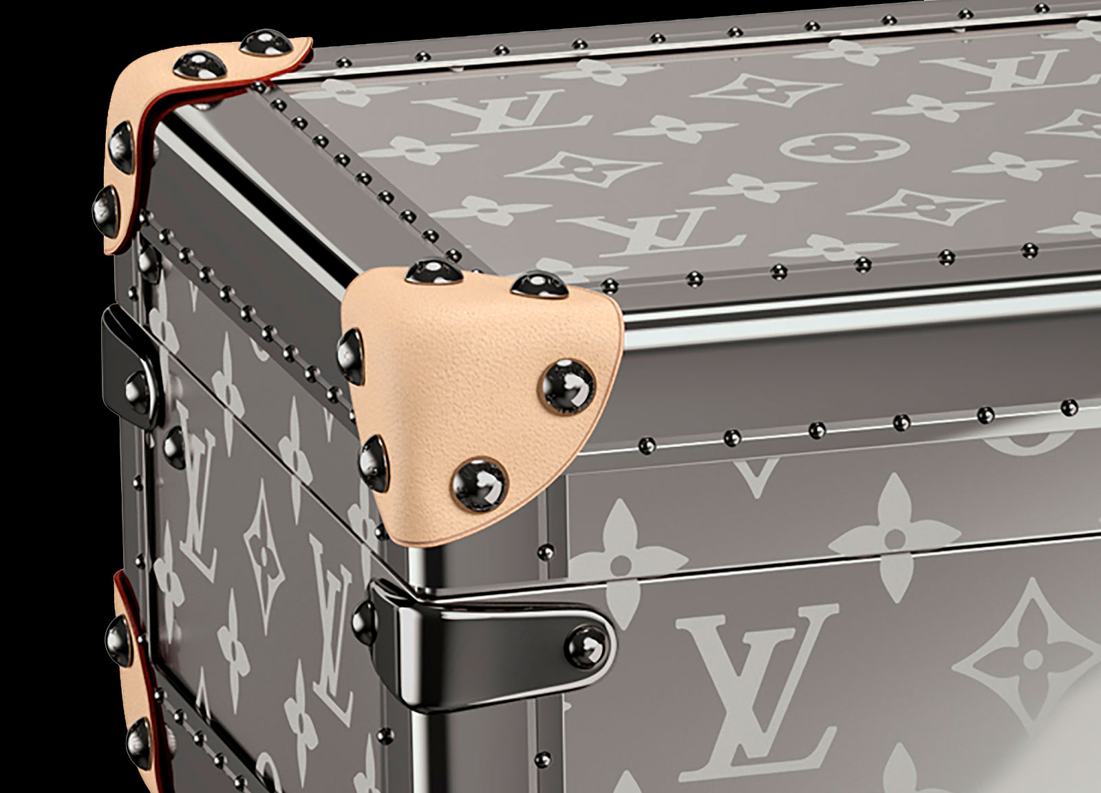 Louis Vuitton Monogram Titanium Watch trunk Coffret Montres 2