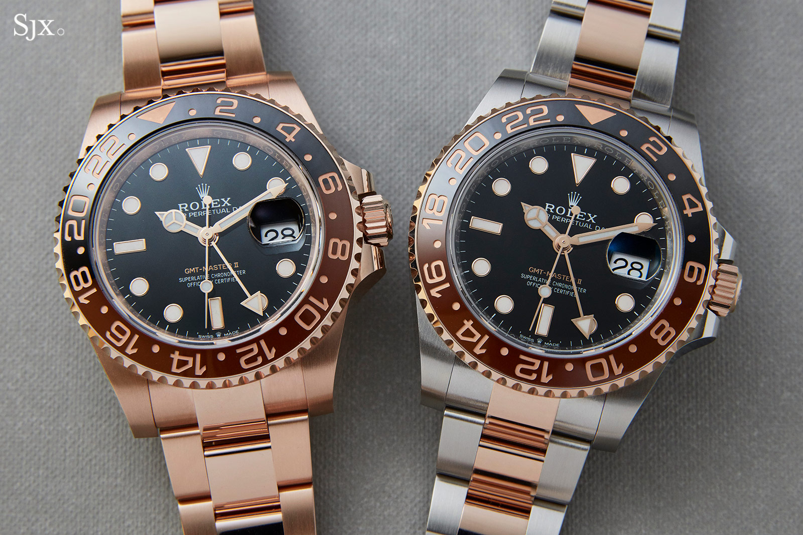 Hands On With The Rolex Gmt Master Ii In Both Everose And Rolesor Sjx Watches