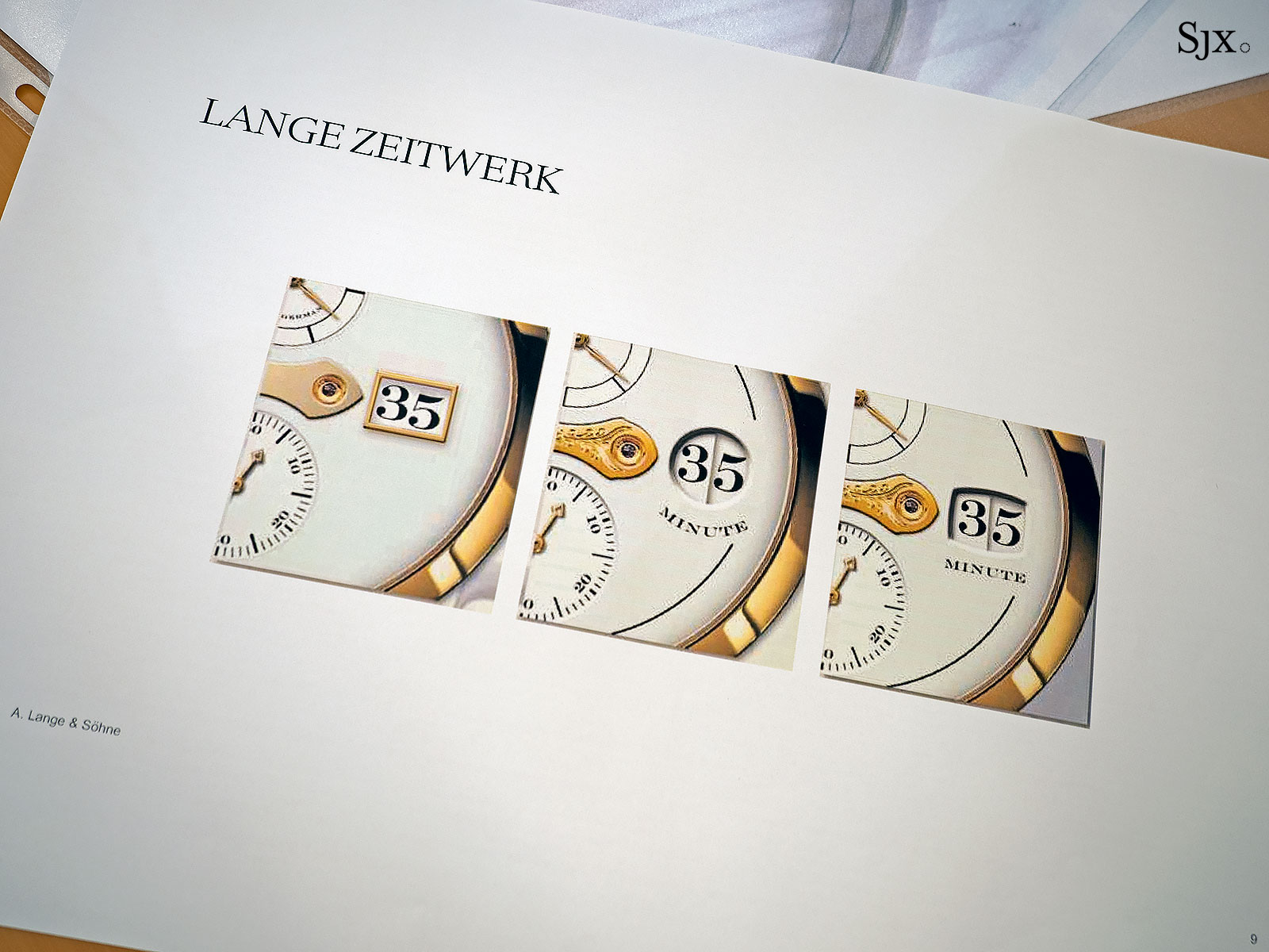 Lange Zeitwerk design sketches 5