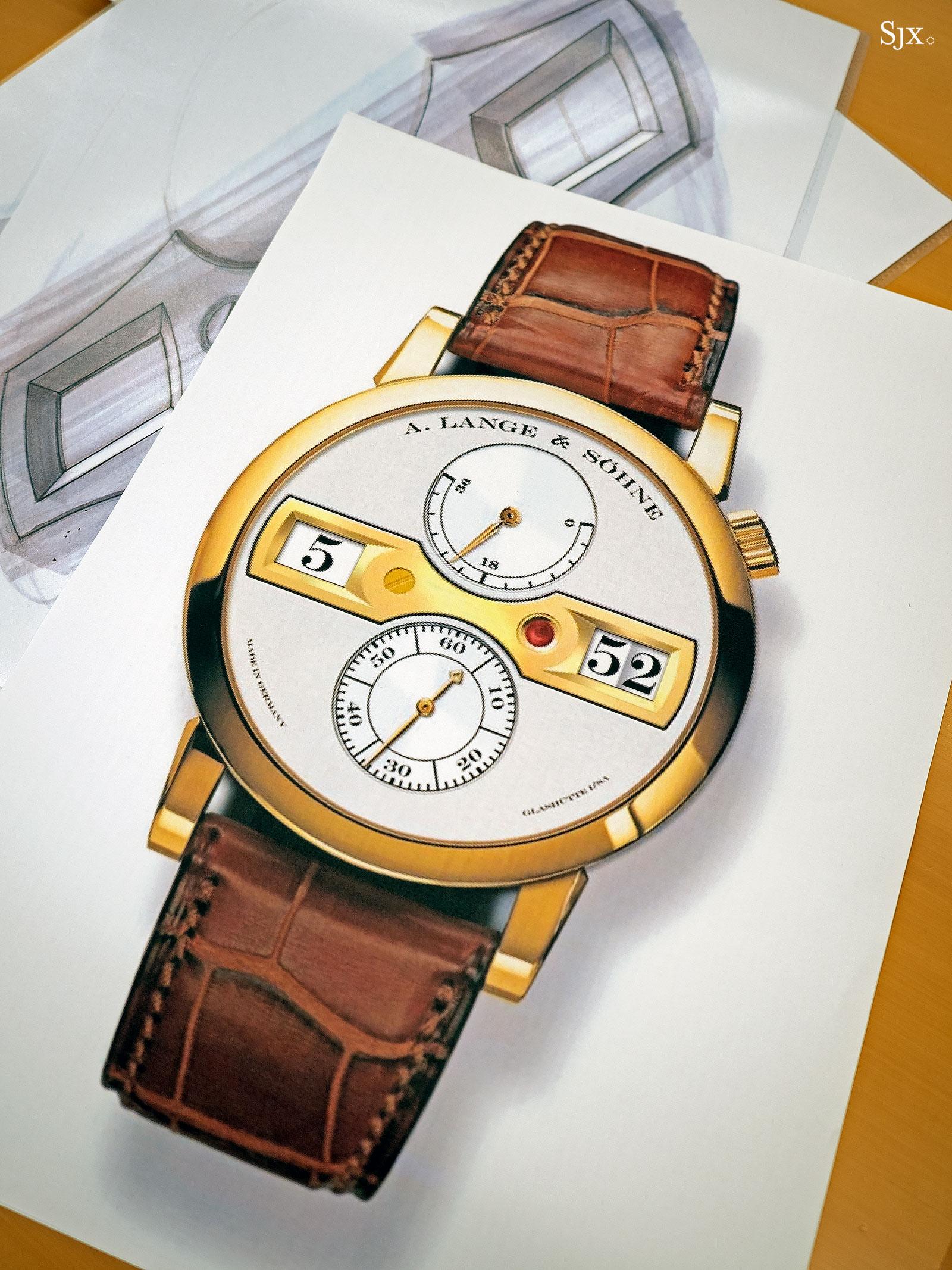 Lange Zeitwerk design sketches 6