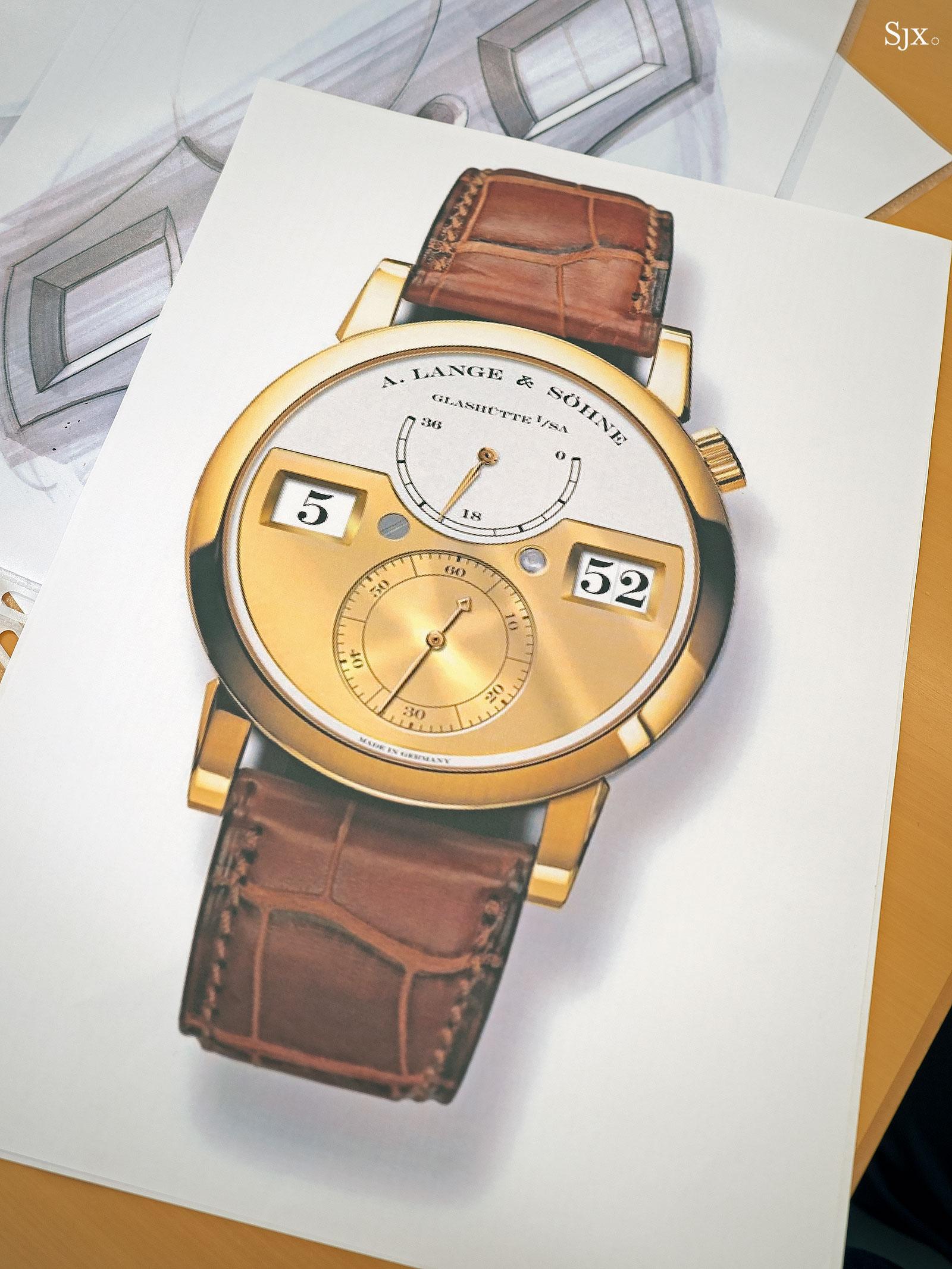 Lange Zeitwerk design sketches 7