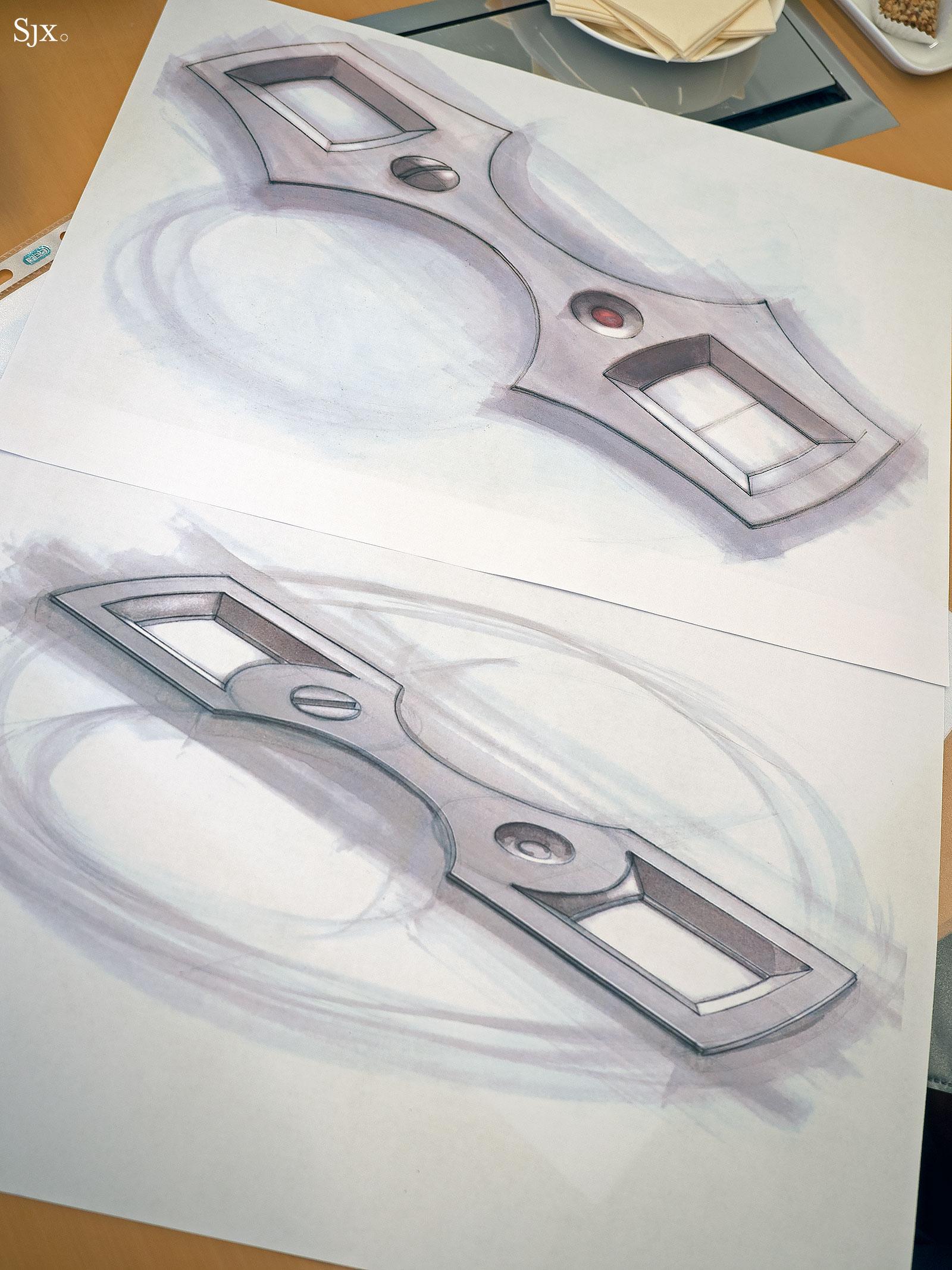 Lange Zeitwerk design sketches 8