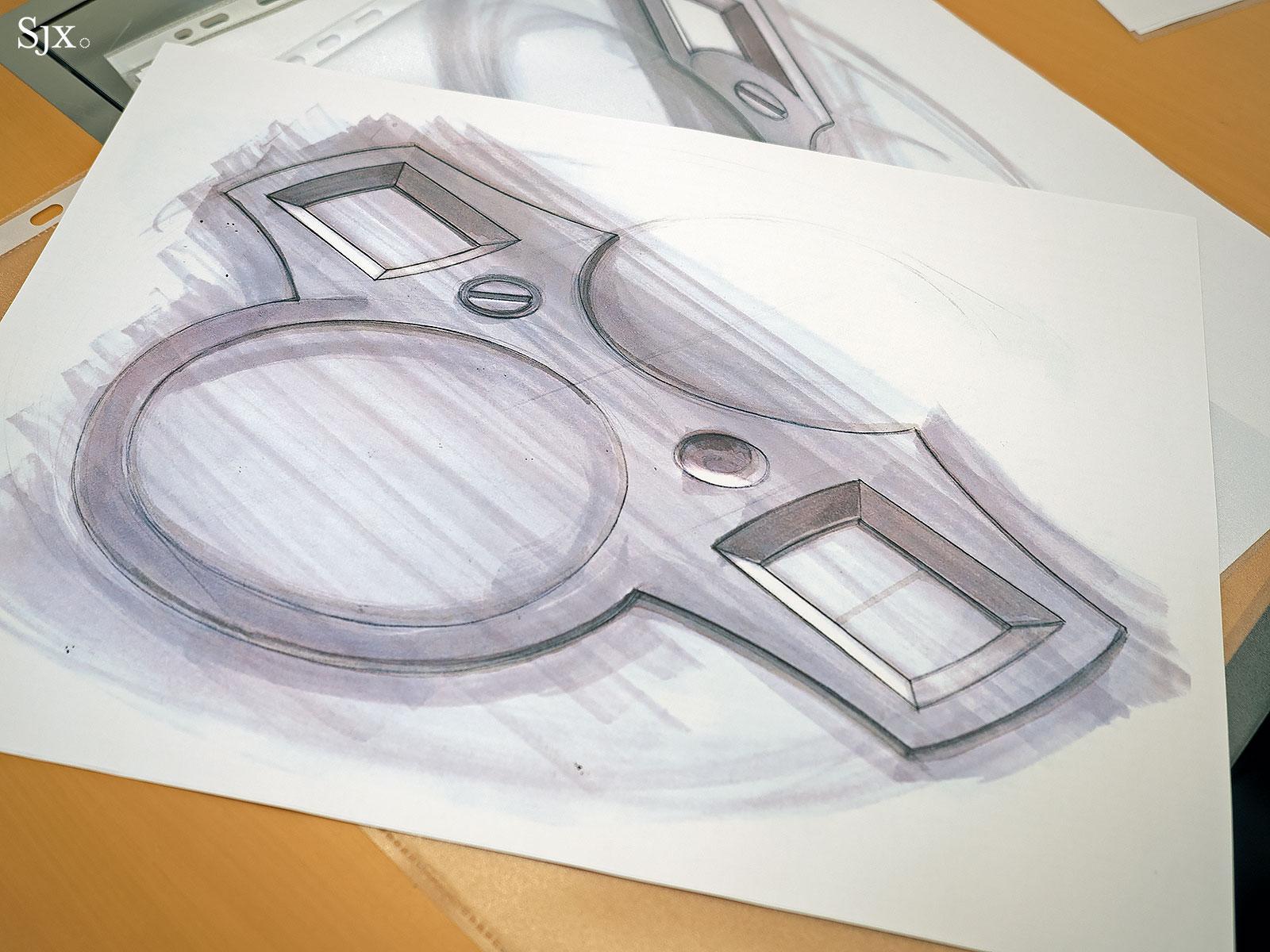 Lange Zeitwerk design sketches 9