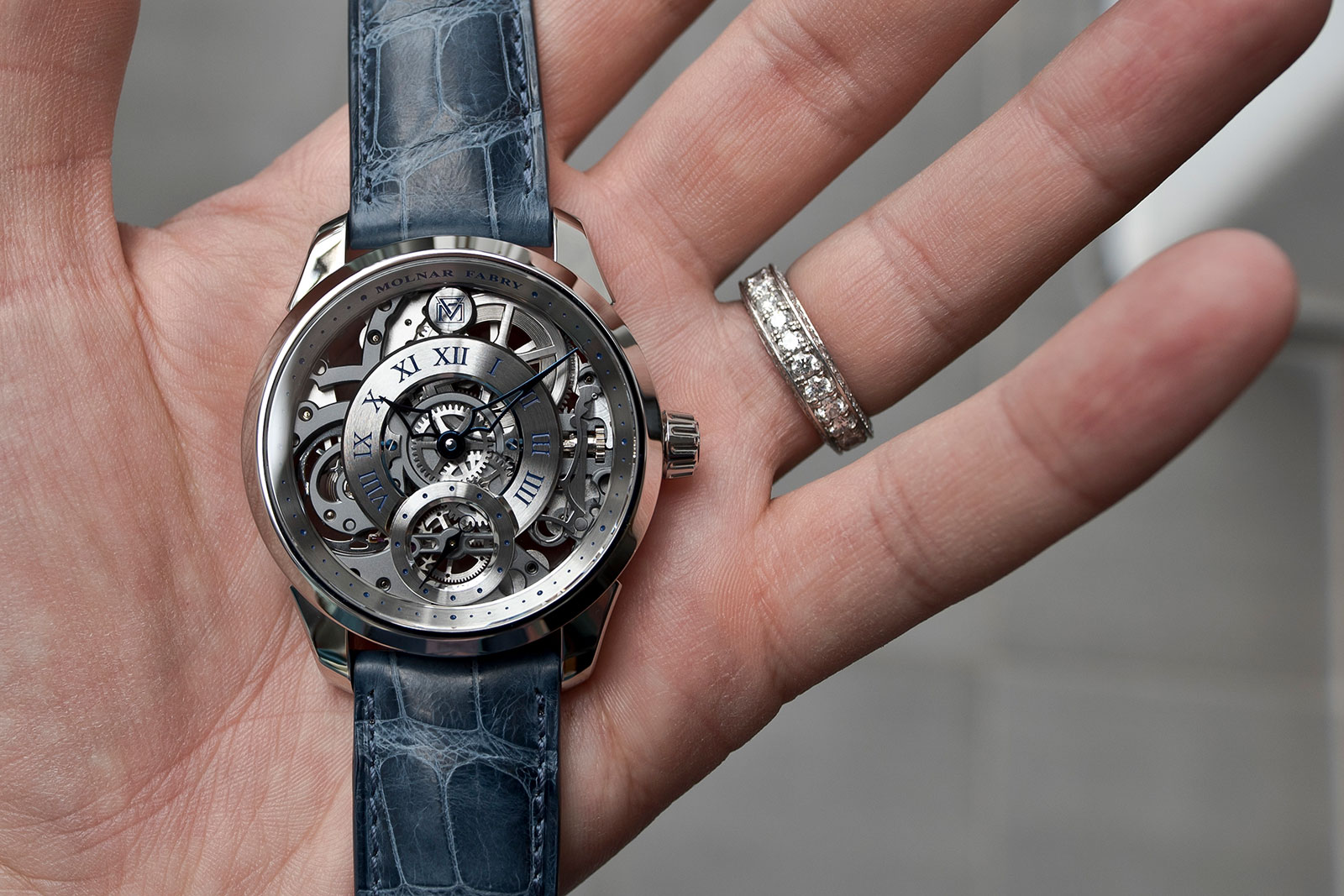 Molnar Fabry Tech Art Skeleton watch 1