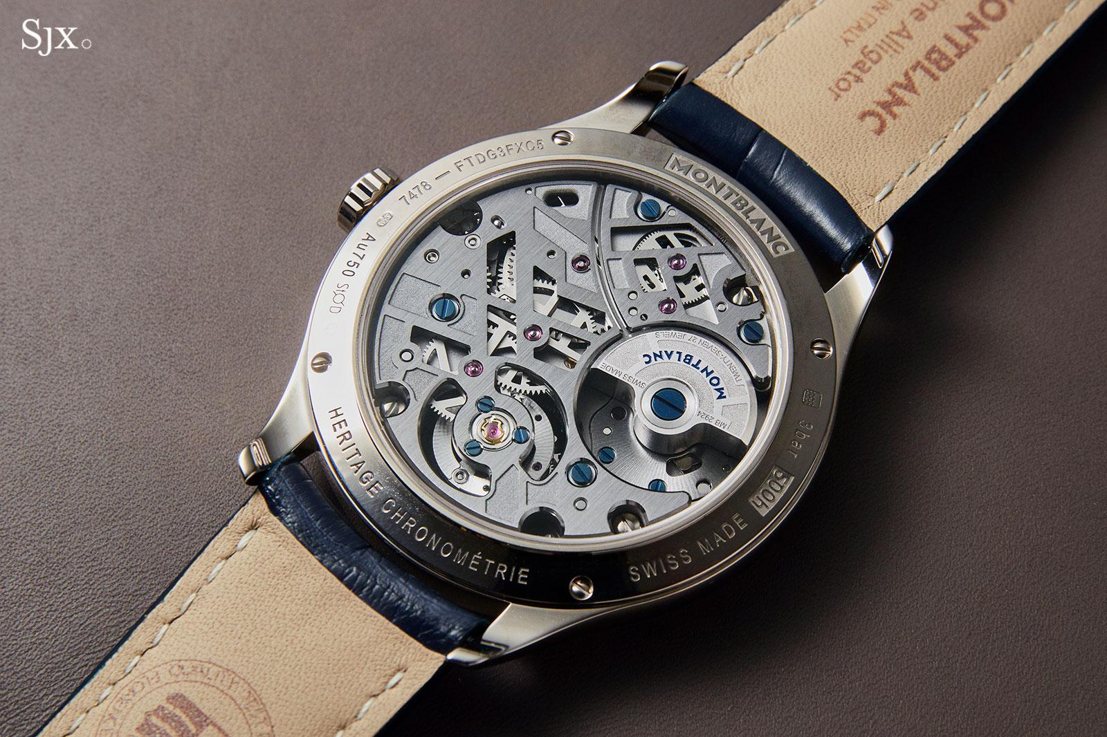 Montblanc Heritage Chronométrie Exo Tourbillon skeleton 6