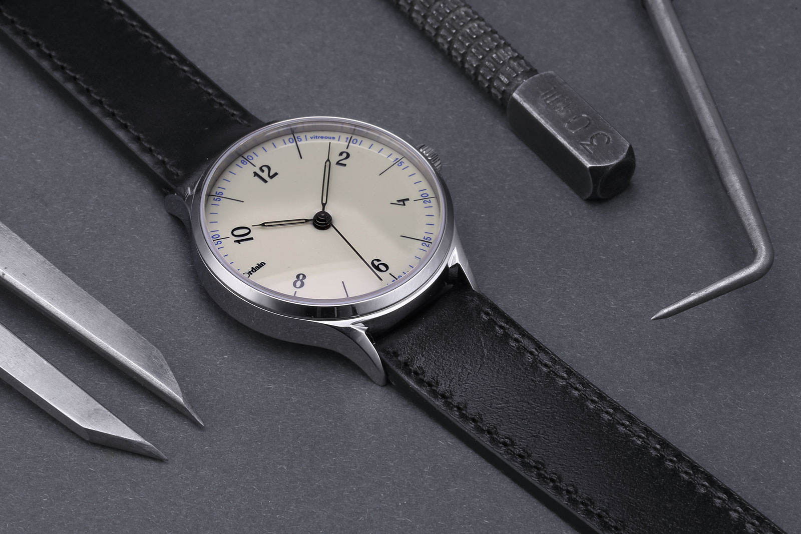 Anordain Model 1 enamel dial watch 10