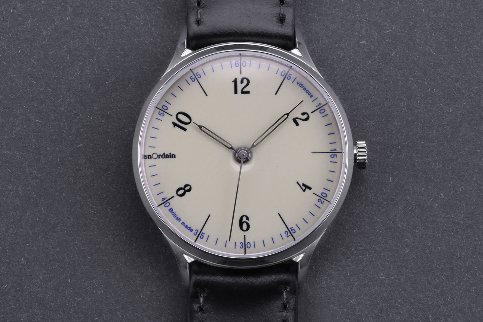 Anordain Model 1 enamel dial watch 3