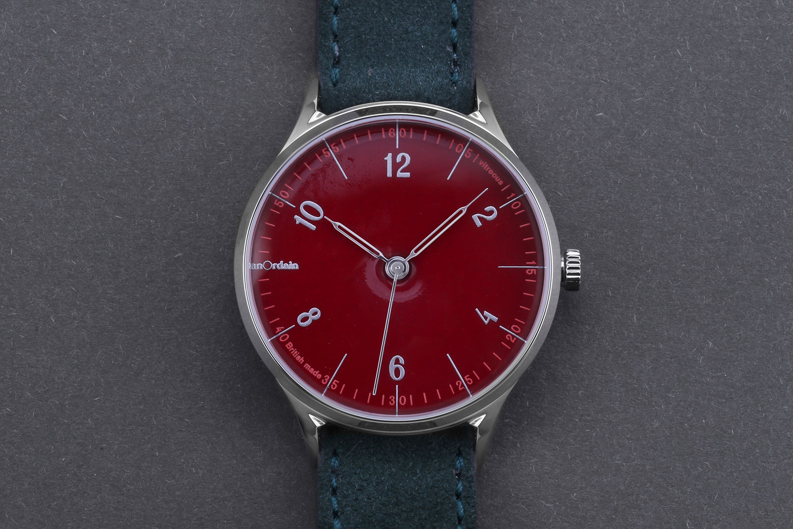 Anordain Model 1 enamel dial watch 6