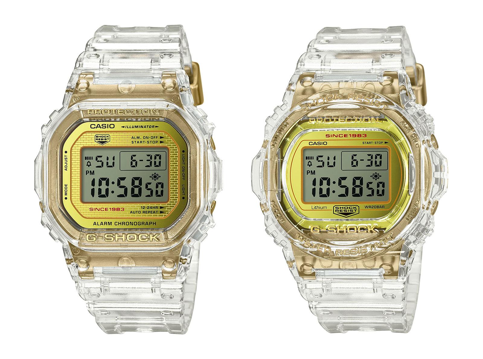G Shock Glacier Gold DW5035E DW5735E