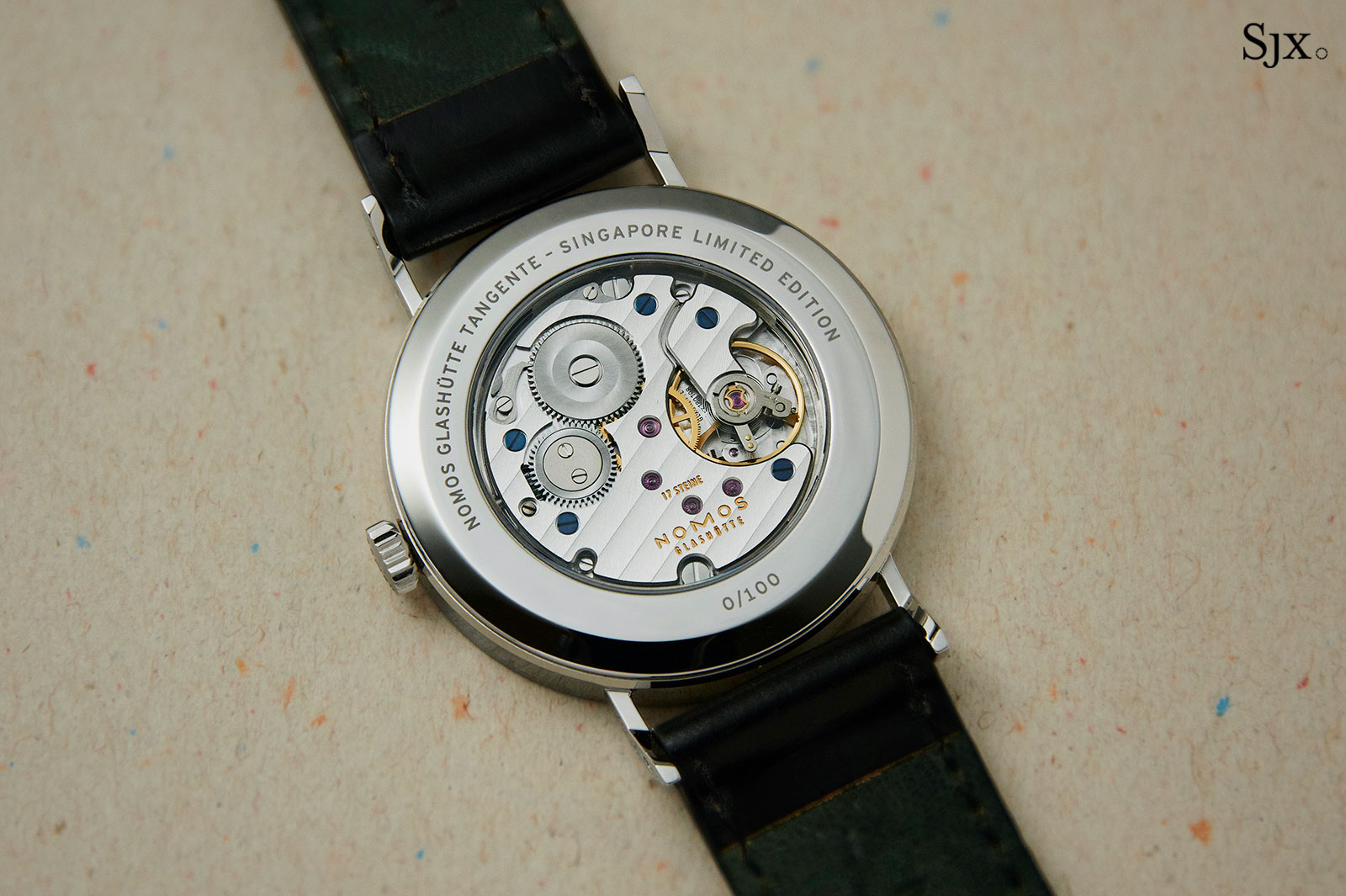 Nomos Tangente Red Dot Singapore blue 2