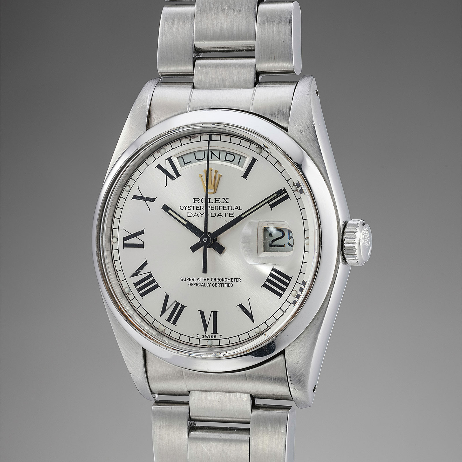 Rolex Day Date stainless steel phillips 1
