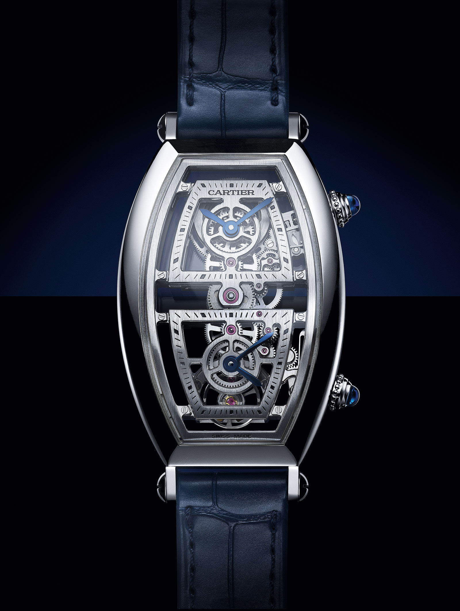 Cartier Privé Tonneau Skeleton Dual Time