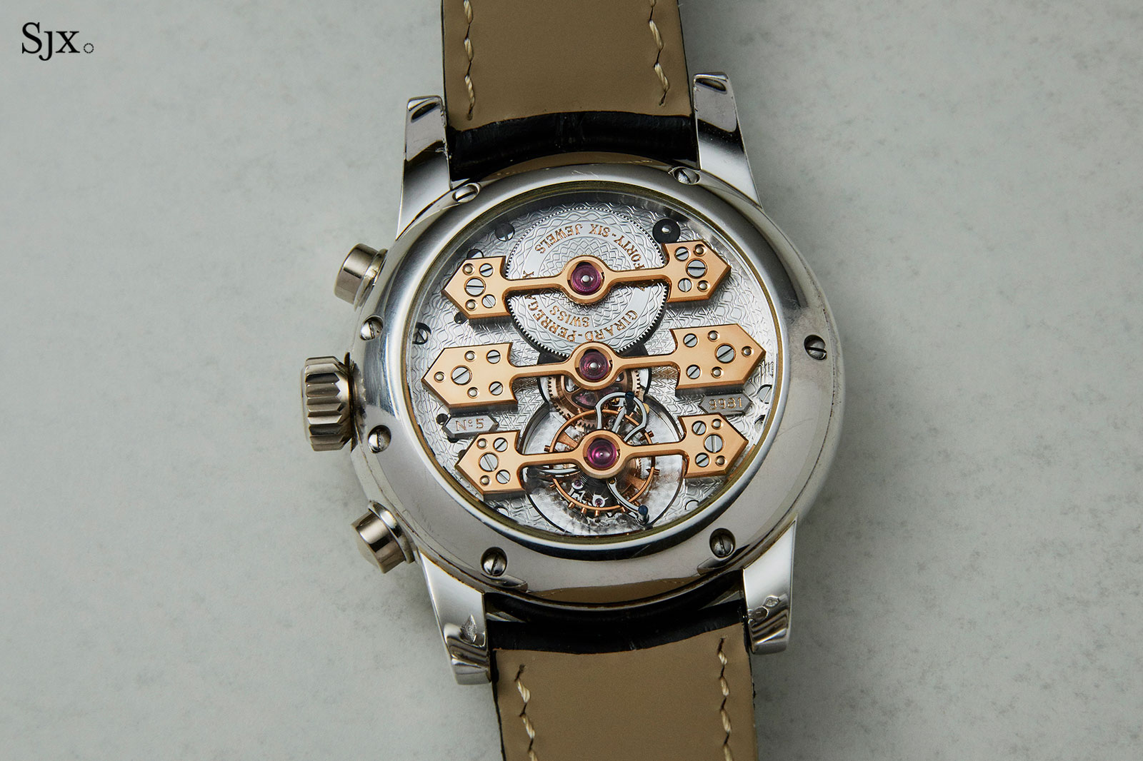 Girard-Perregaux Chronograph Gold Bridges Tourbillon 3