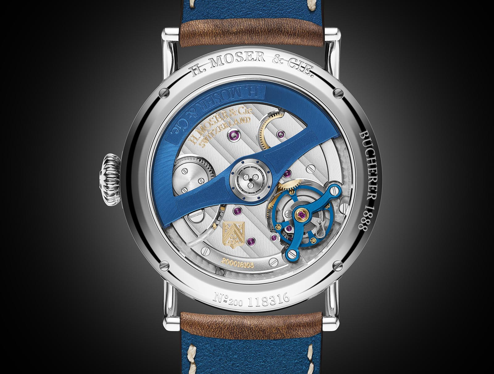 H. Moser & Cie. Heritage Bucherer Blue Edition 6