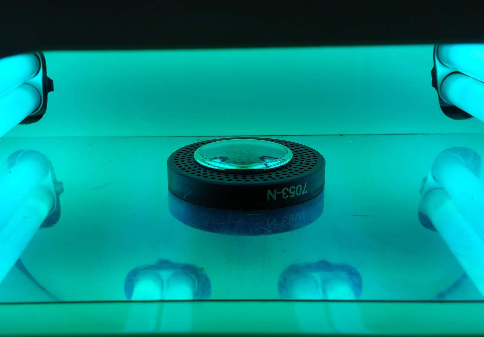 KHWCC crystal under UV light