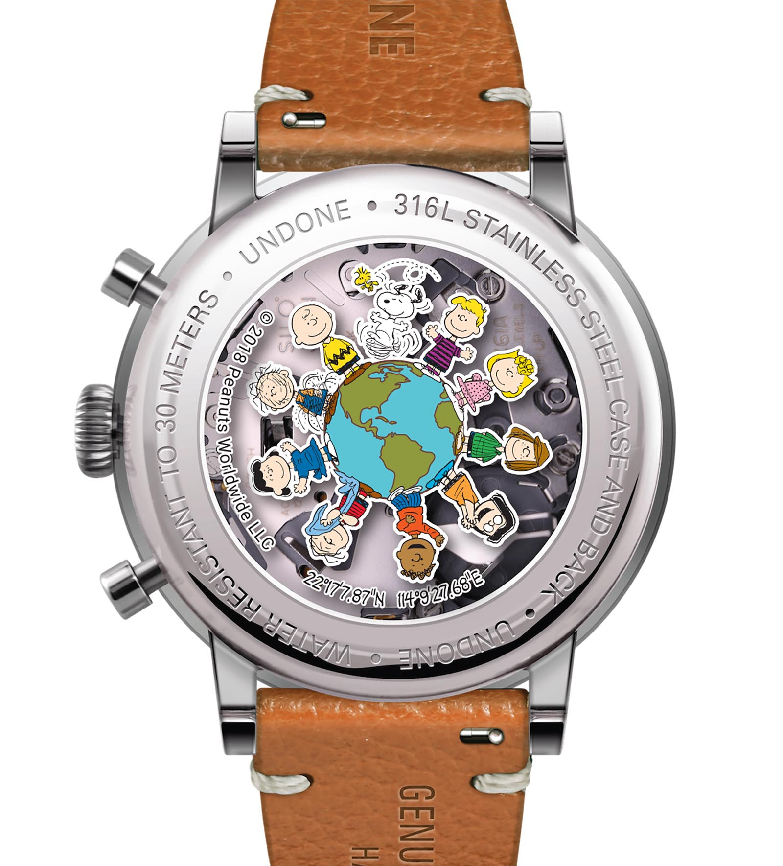 Undone Peanuts Urban One World Chronograph caseback