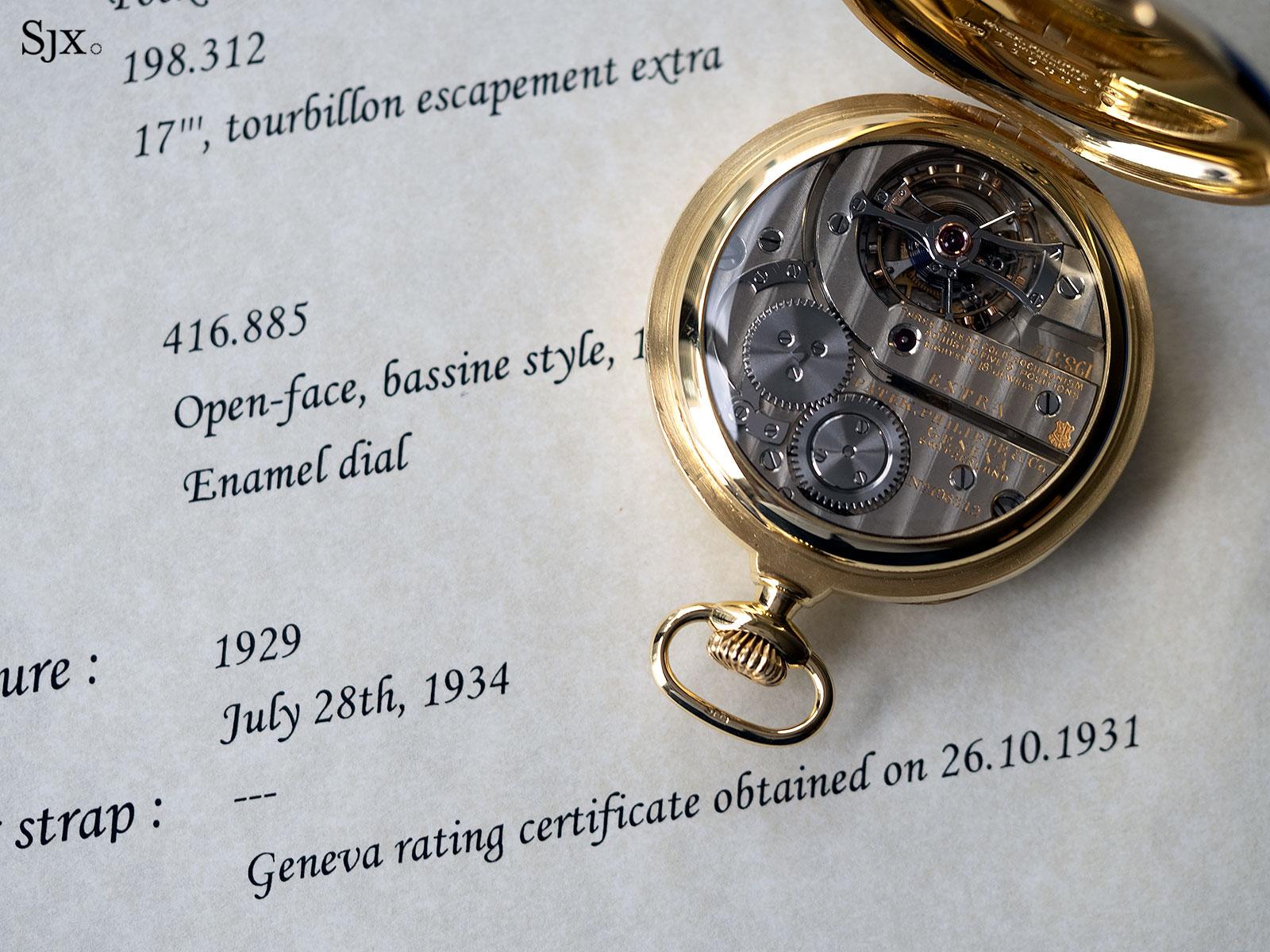 patek observatory tourbillon pocket watch 198312 23