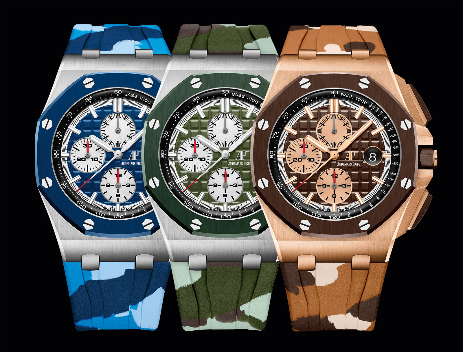 Sihh 2019 introducing the audemars piguet royal oak offshore chronograph camo sjx watches for Ap royal oak offshore chronograph