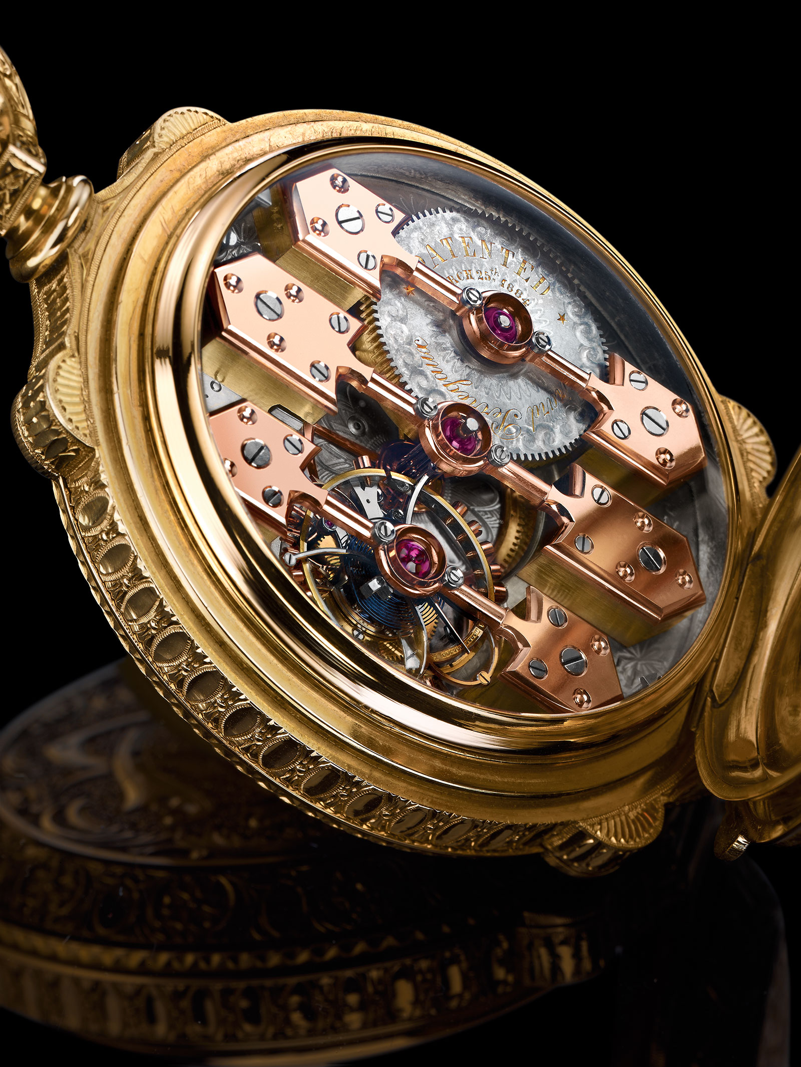 Girard-Perregaux La Esmeralda pocket watch