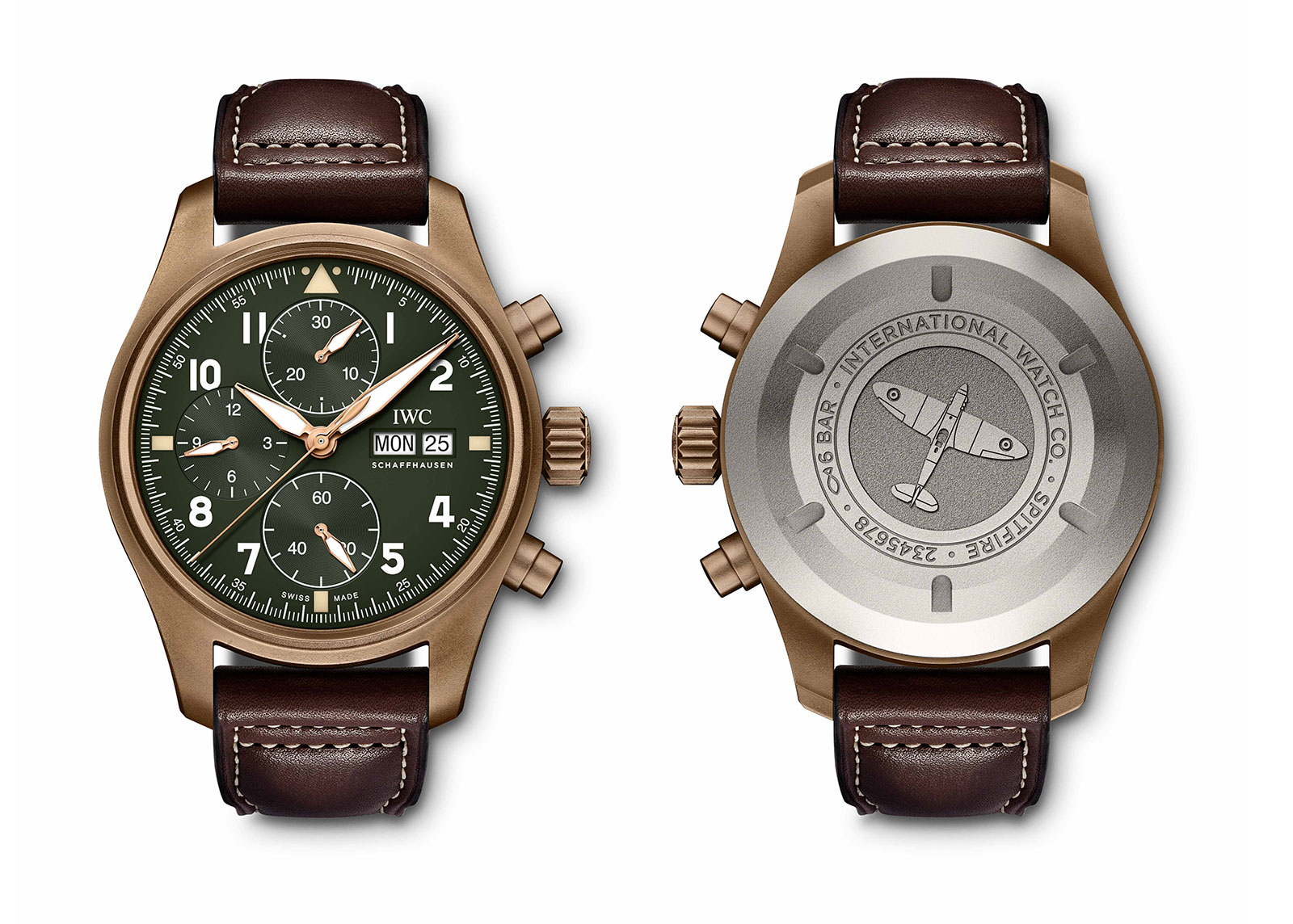 IWC's newest Spitfires unveiled IWC-Pilot-Chronograph-Spitfire-bronze-IW387902