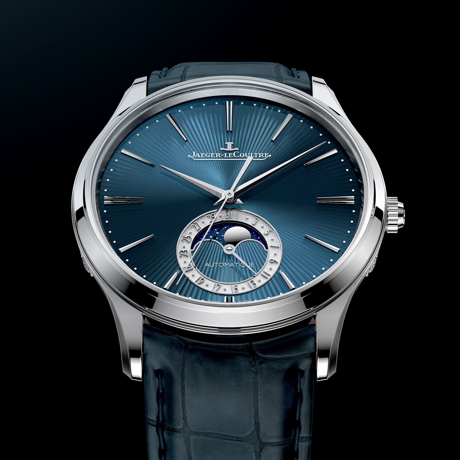jaeger lecoultre introduces the master ultra thin moon enamel sjx watches. Black Bedroom Furniture Sets. Home Design Ideas