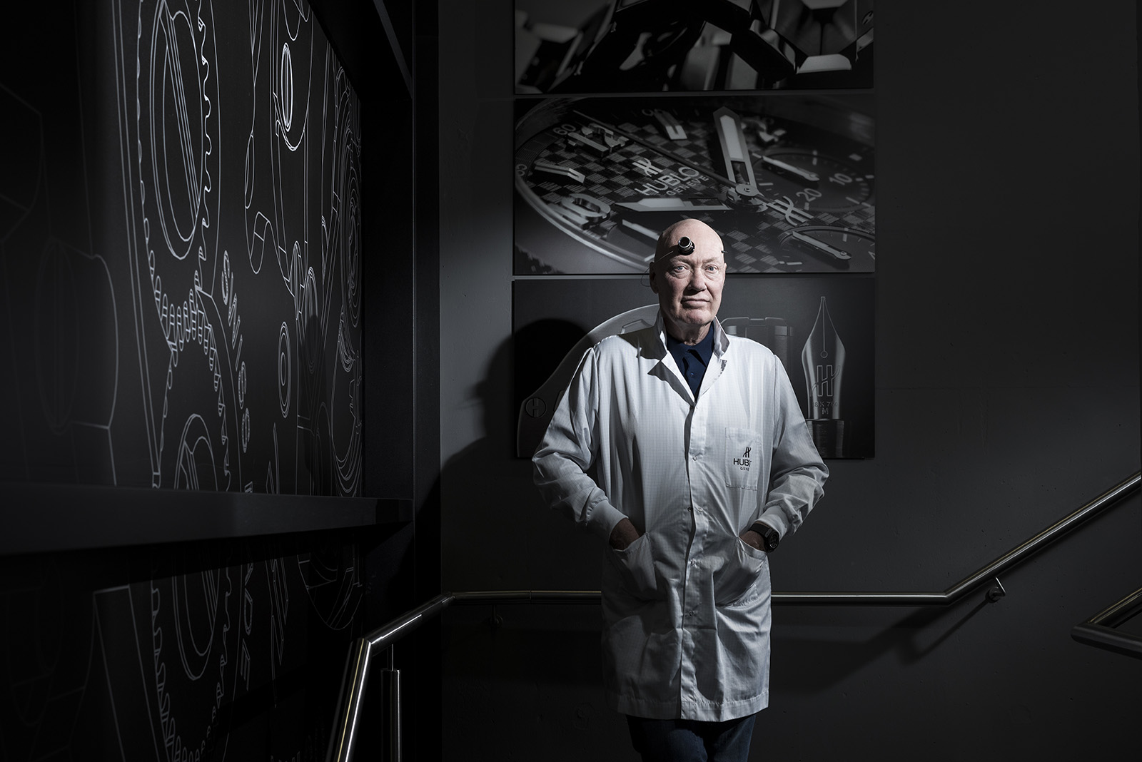 Jean-Claude Biver, head of the watch division at luxury conglomerate LVMH Moet Hennessy Louis Vuitton. Hublot Manufacture, Nyon, Switzerland, 14 February 2018 © Fred Merz | Lundi13 for The Wall Street Journal.