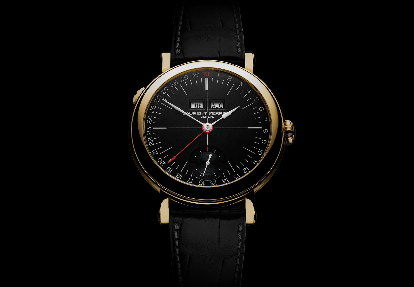 Laurent Ferrier Annual Calendar Montre Ecole opaline 1