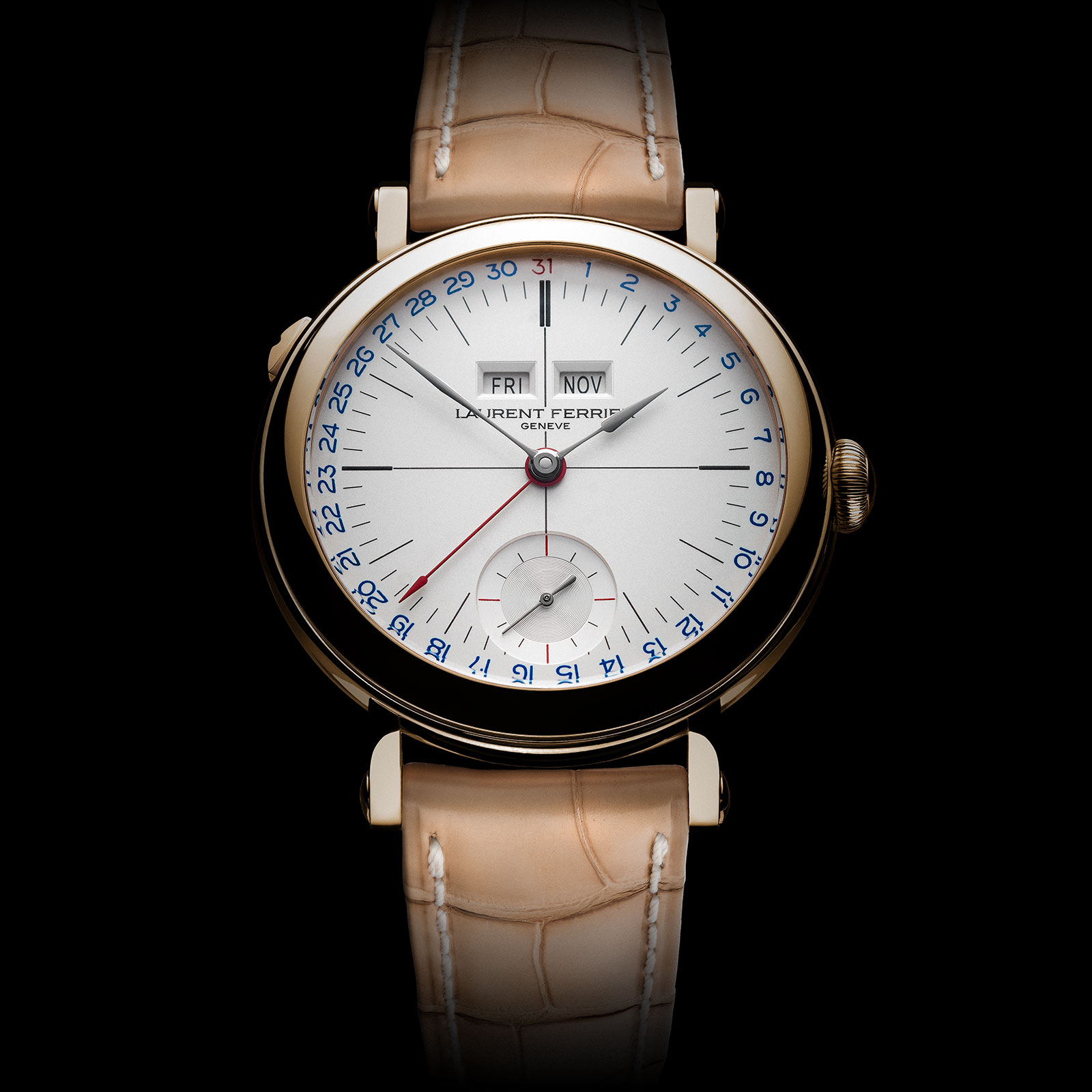 Laurent Ferrier Annual Calendar Montre Ecole opaline 3