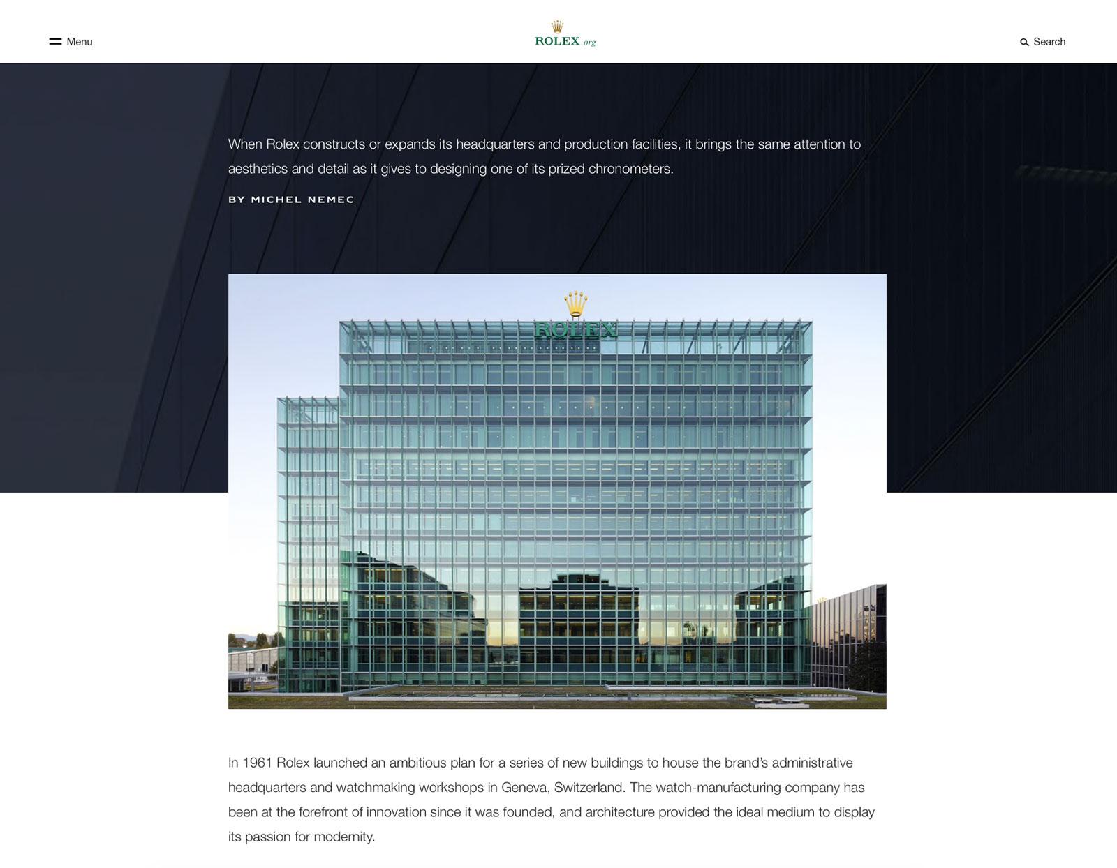 rolex.org headquarters