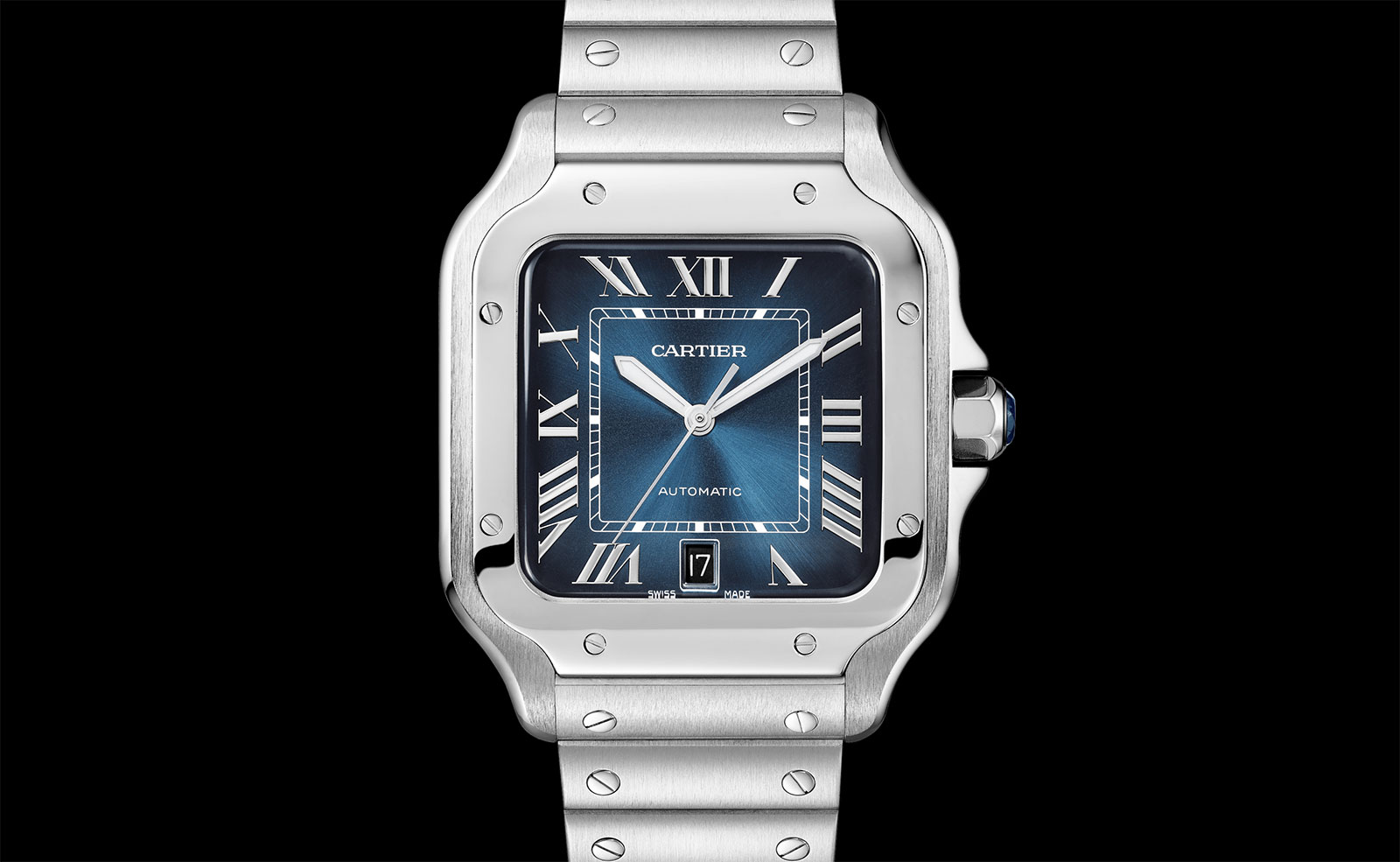 Cartier Santos Gradient Blue dial 1