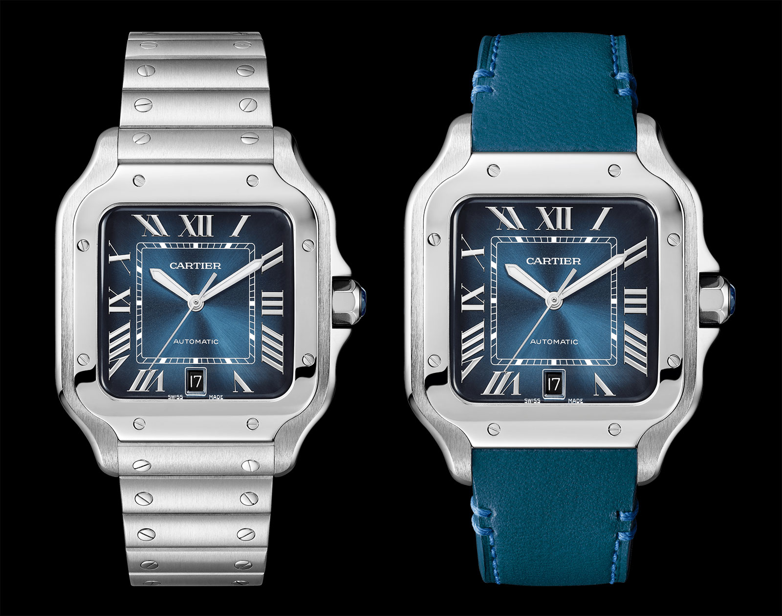 Cartier Santos Gradient Blue dial 2