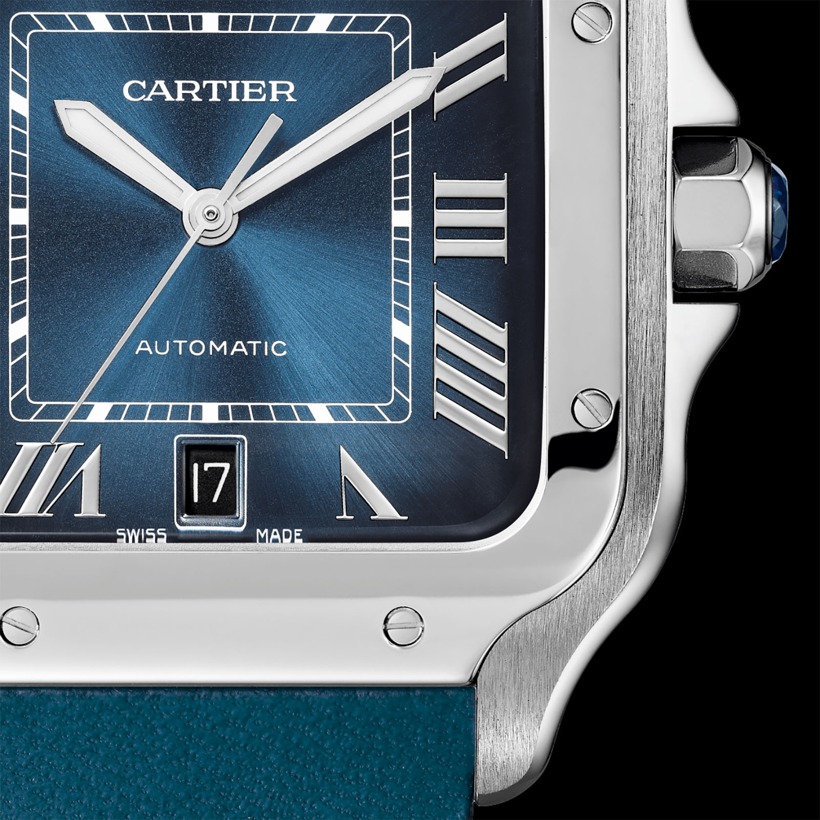 Cartier Santos Gradient Blue dial 3