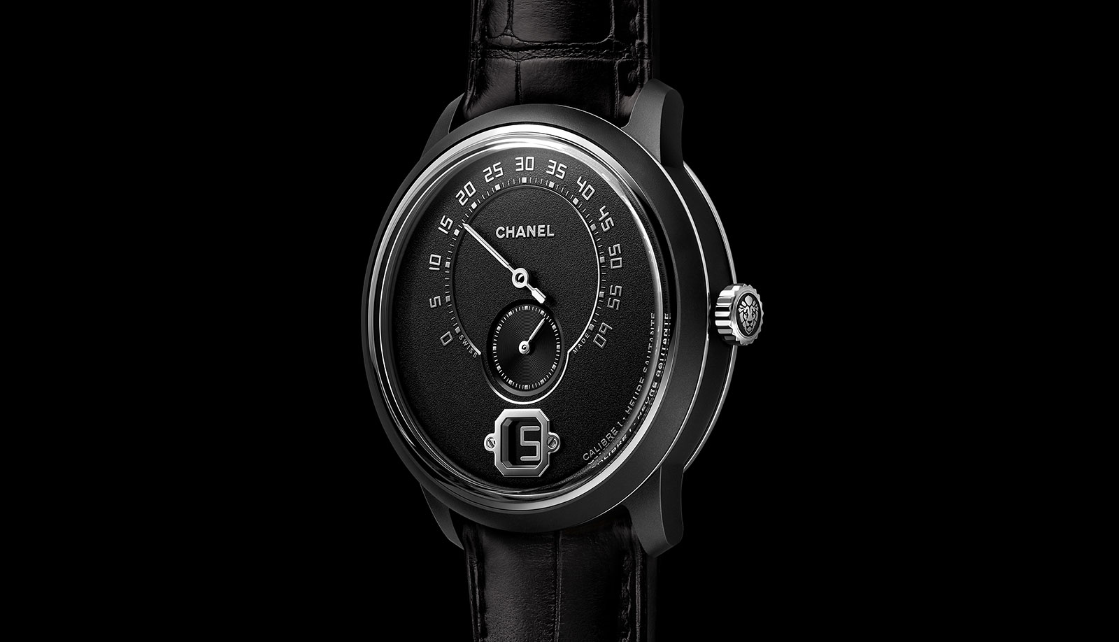Chanel Monsieur Édition Noire watch 1