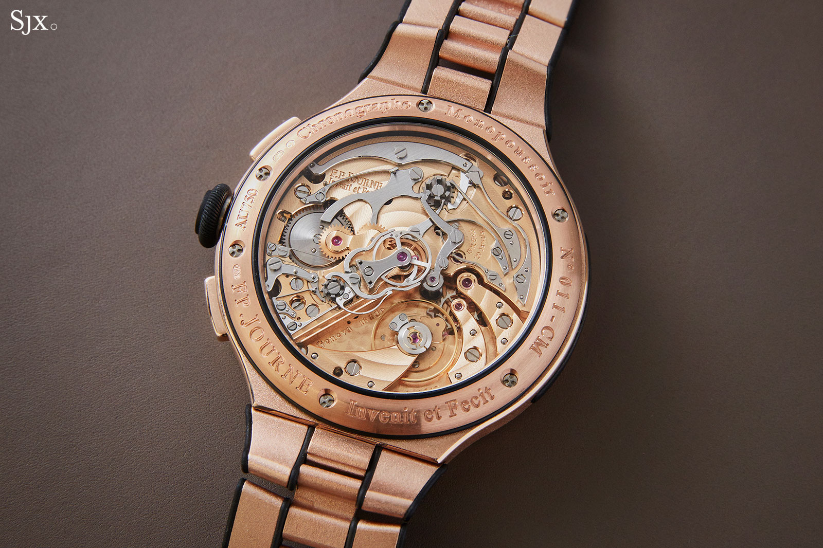 FP Journe Chronographe Monopoussoir Rattrapante rose gold 3
