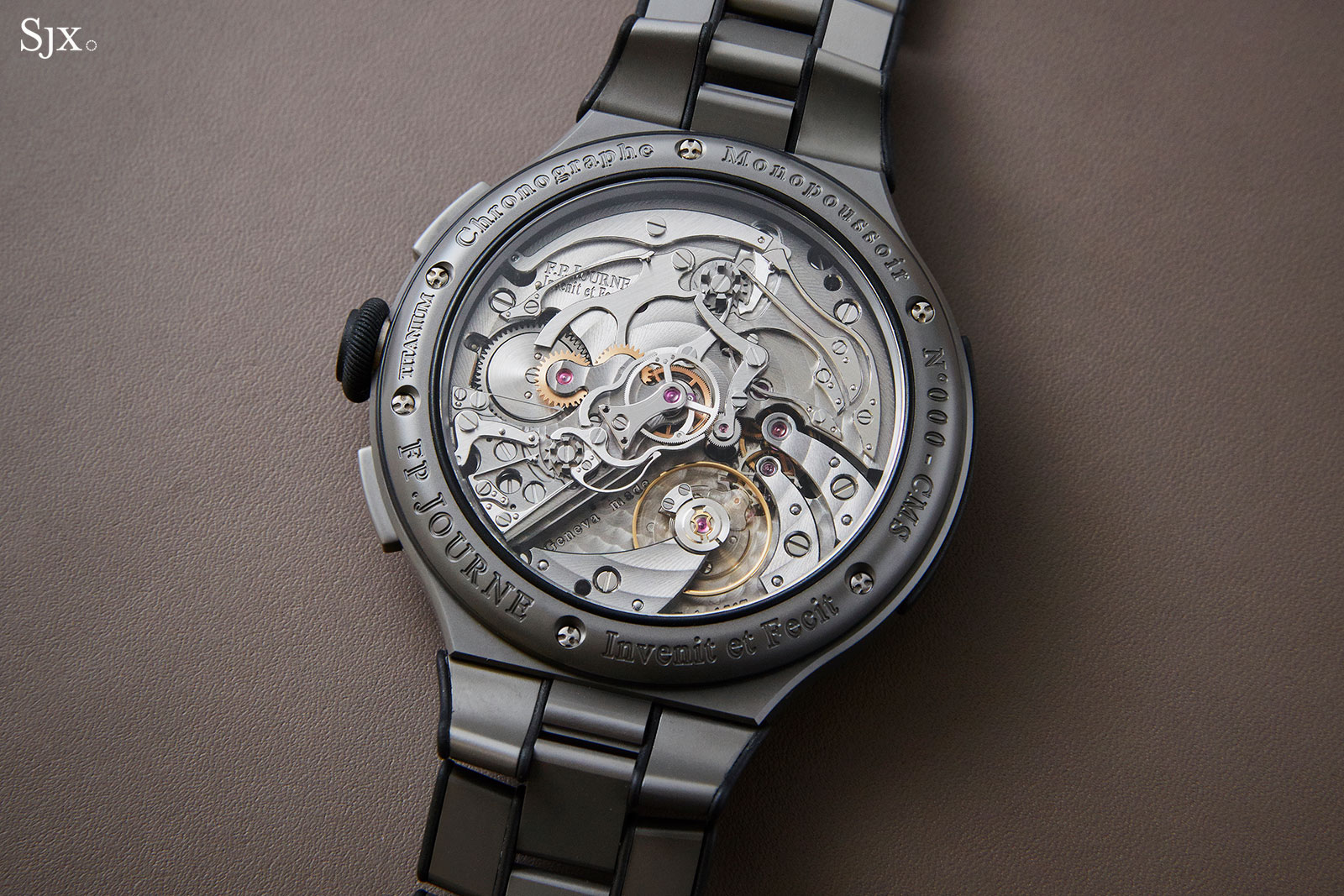 FP Journe Linesport Chronograph split seconds titanium 3