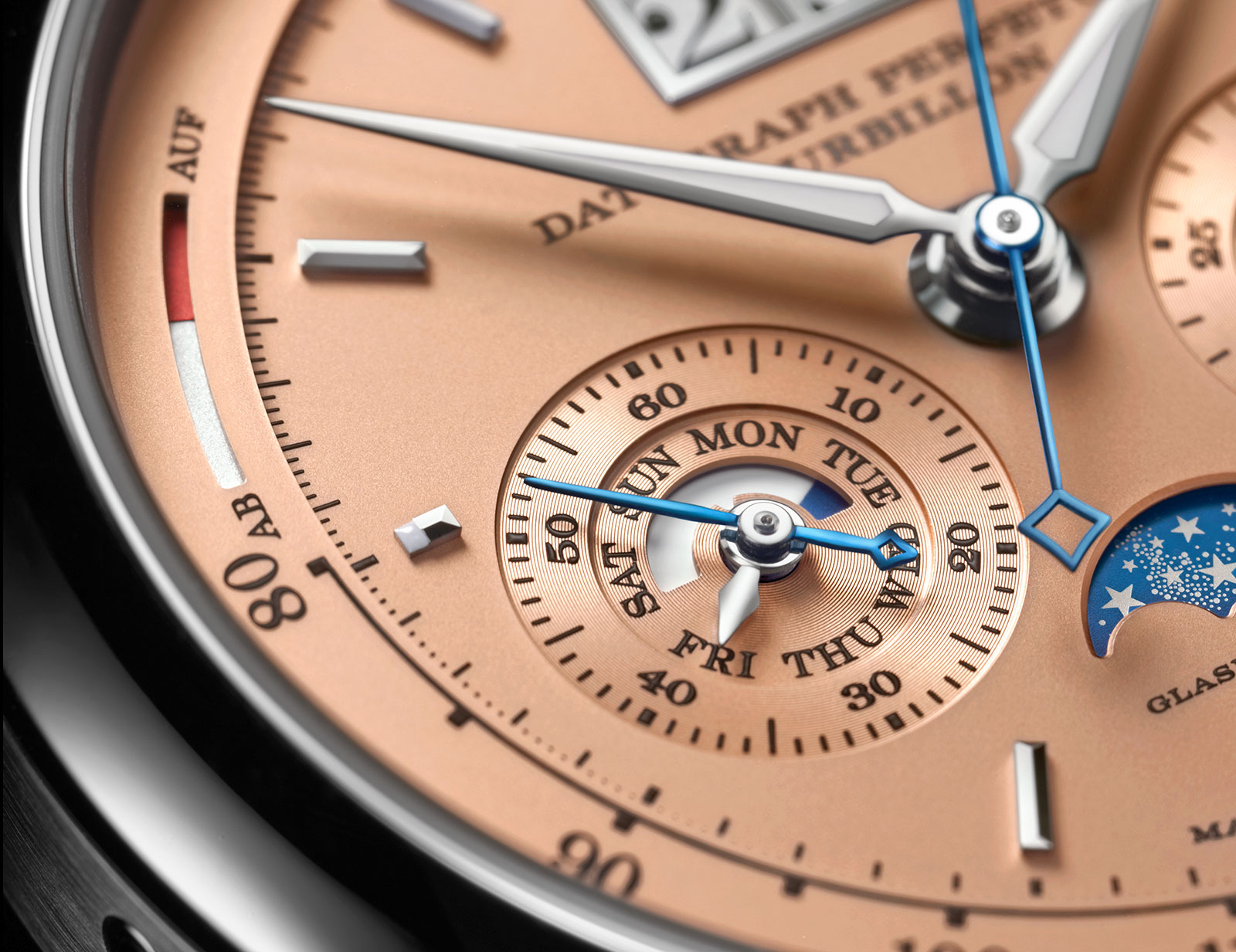 Lange Datograph Perpetual Tourbillon pink gold dial1