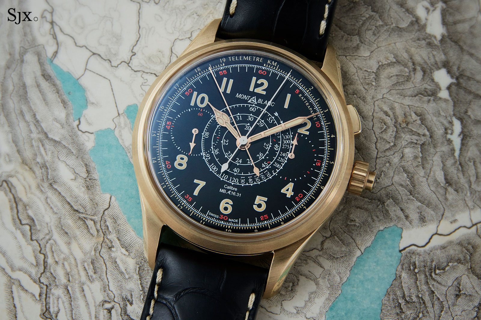 Montblanc 1858 Split Second Chronograph bronze 2