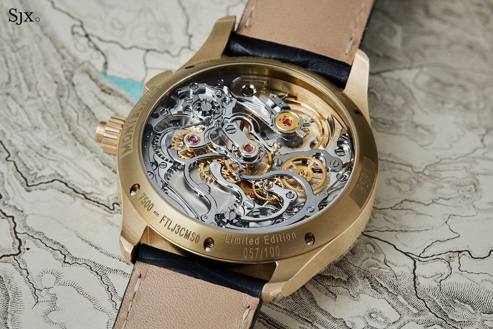 Montblanc 1858 Split Second Chronograph bronze 5