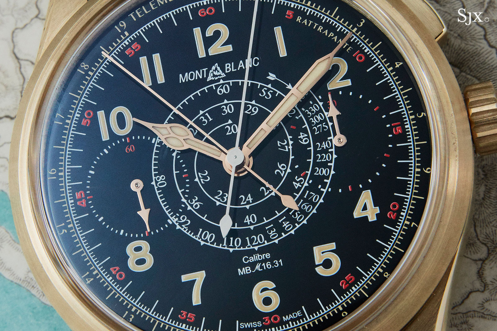 Montblanc 1858 Split Second Chronograph bronze 8