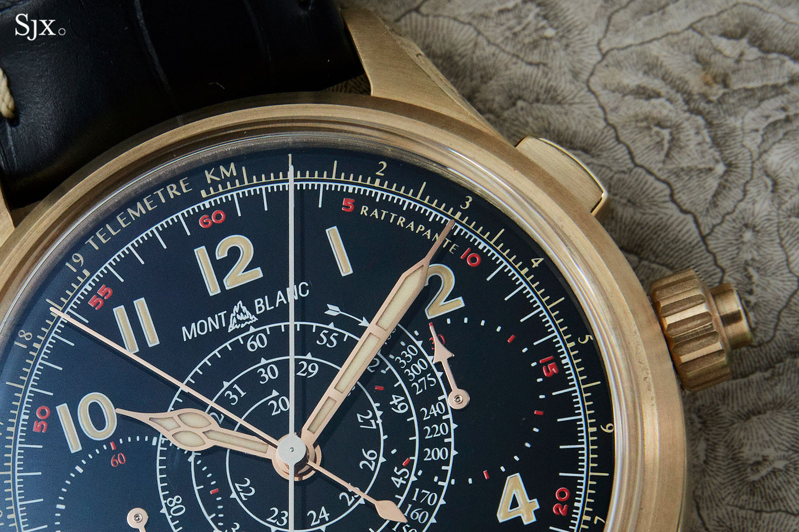 Montblanc 1858 Split Second Chronograph bronze 9