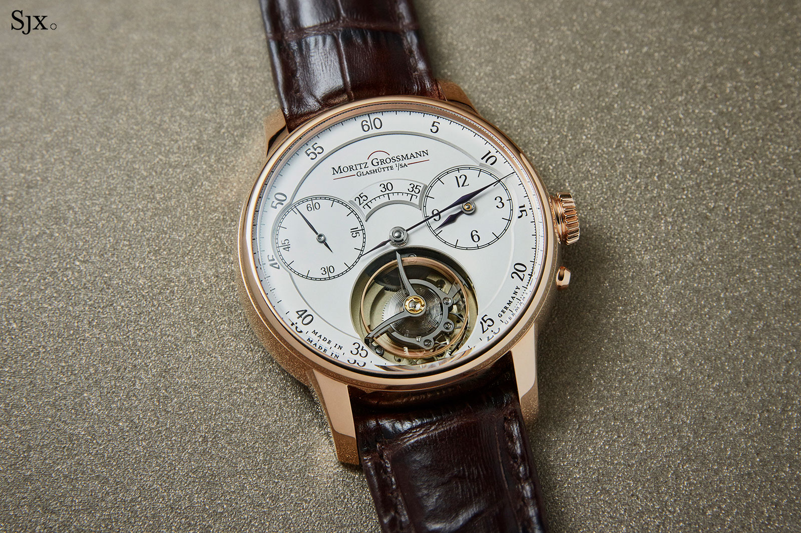 Moritz Grossmann Benu tourbillon rose gold