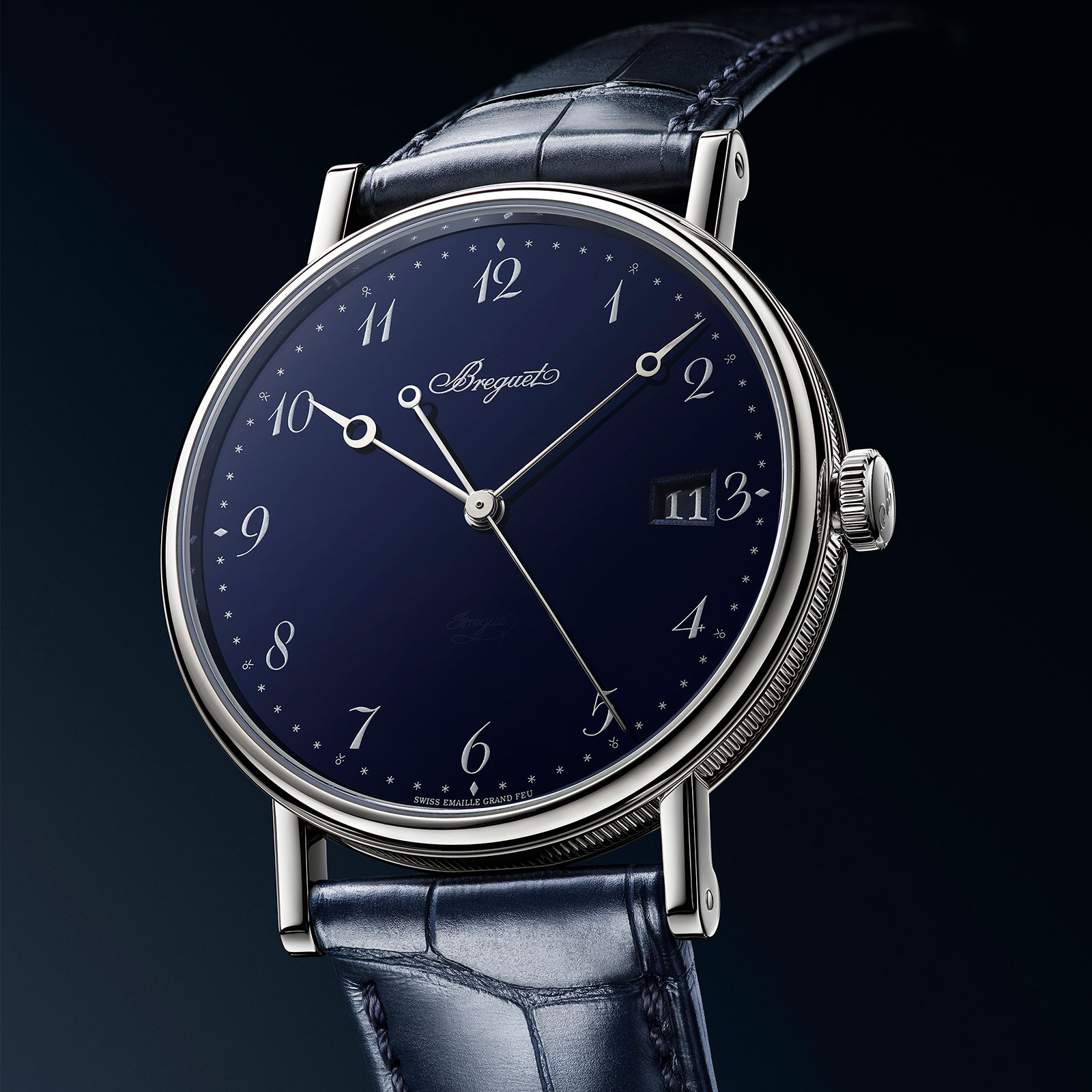 Breguet Classique 5177 blue enamel 3