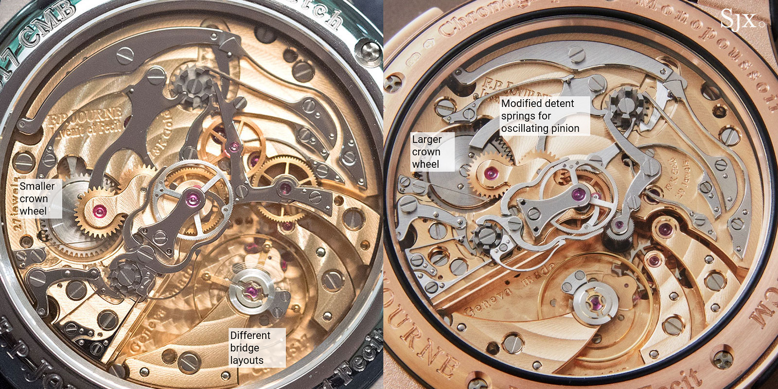 FP journe rattrapante only watch comparison 3