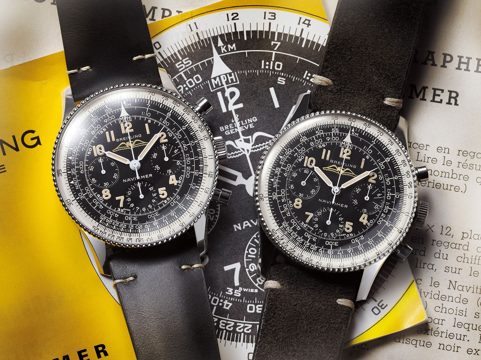 Breitling Navitimer 806 1959 Re-Edition comparison
