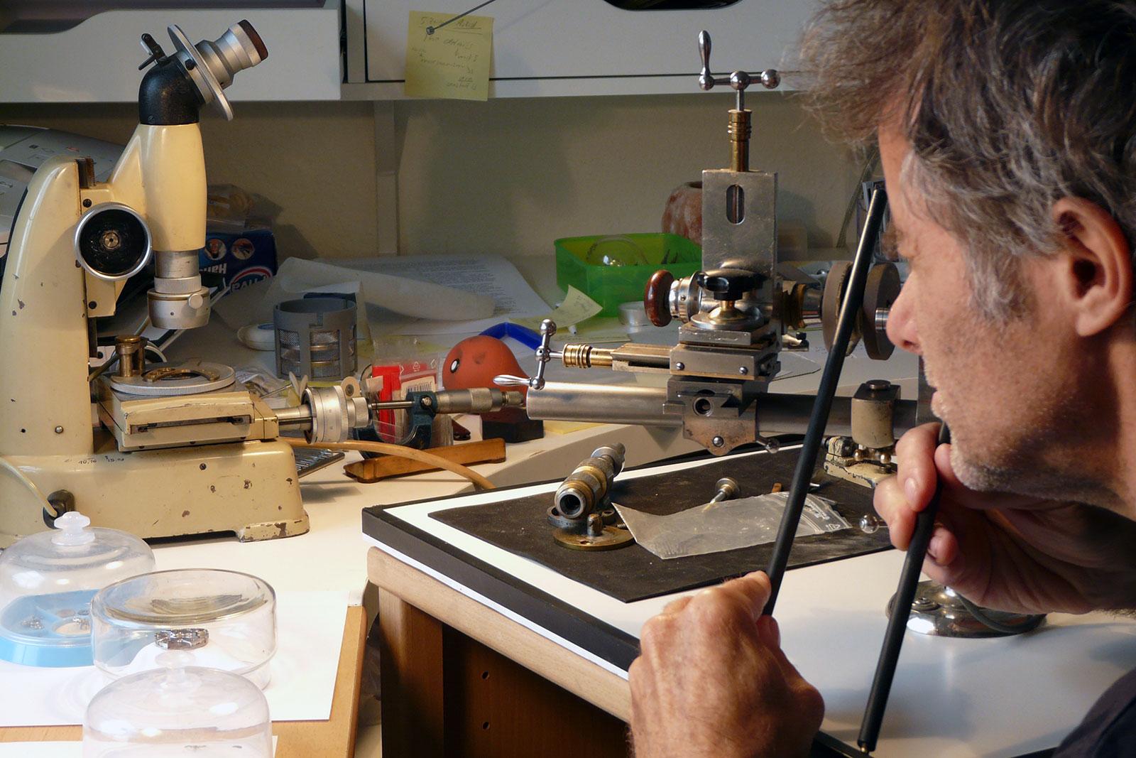 Christian Klings polishing ratchet wheel