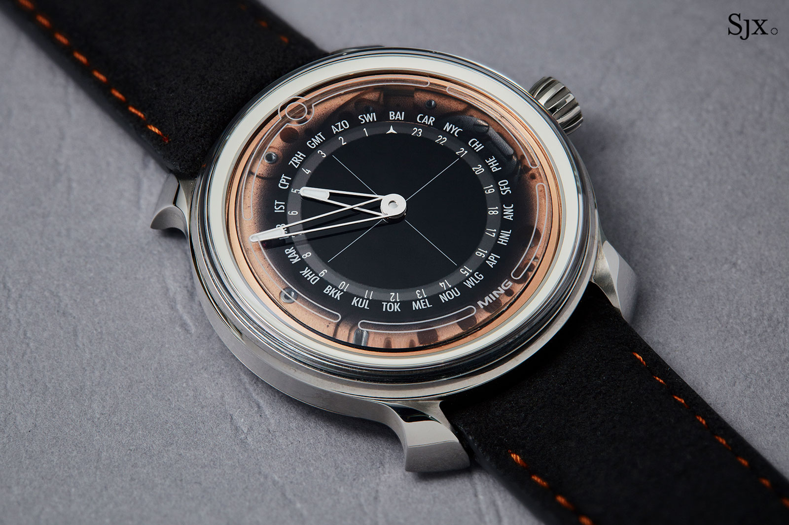 Ming 19.02 worldtimer watch 5