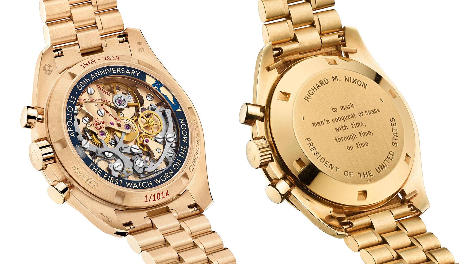 Omega Speedmaster Apollo 11 50th gold comparison 1