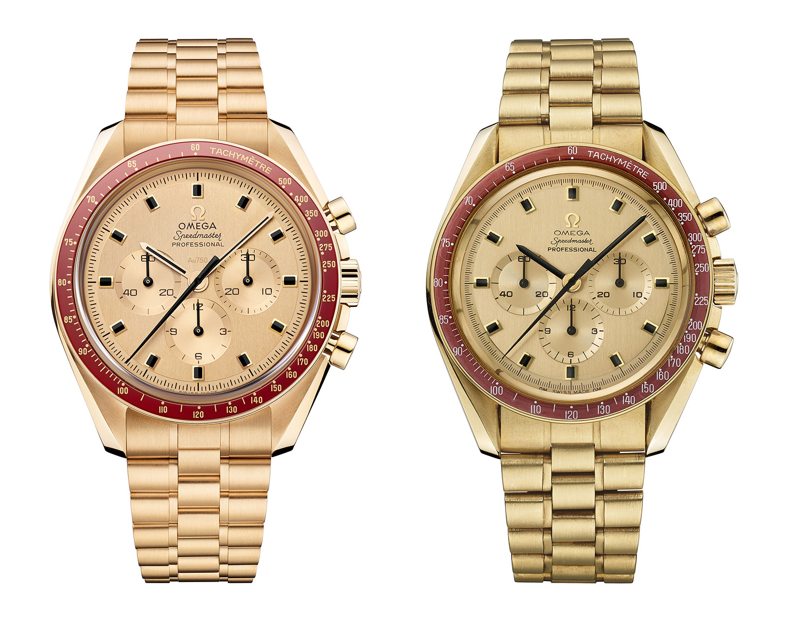 Omega Speedmaster Apollo 11 50th gold comparison 2